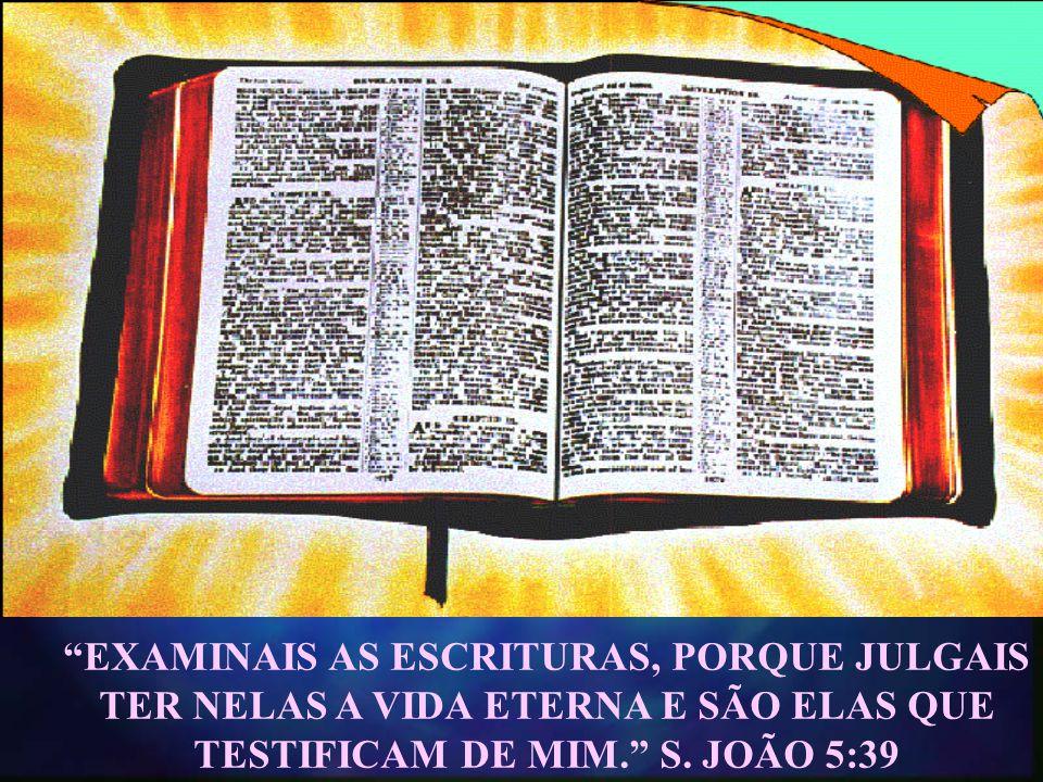 EXAMINAIS AS ESCRITURAS, PORQUE JULGAIS