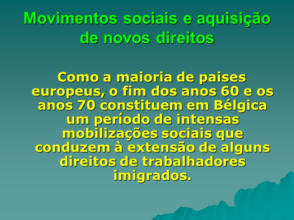Movimentos sociais e aquisição de novos direitos