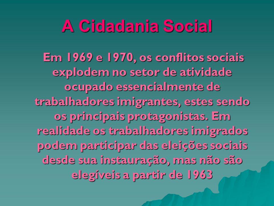 A Cidadania Social