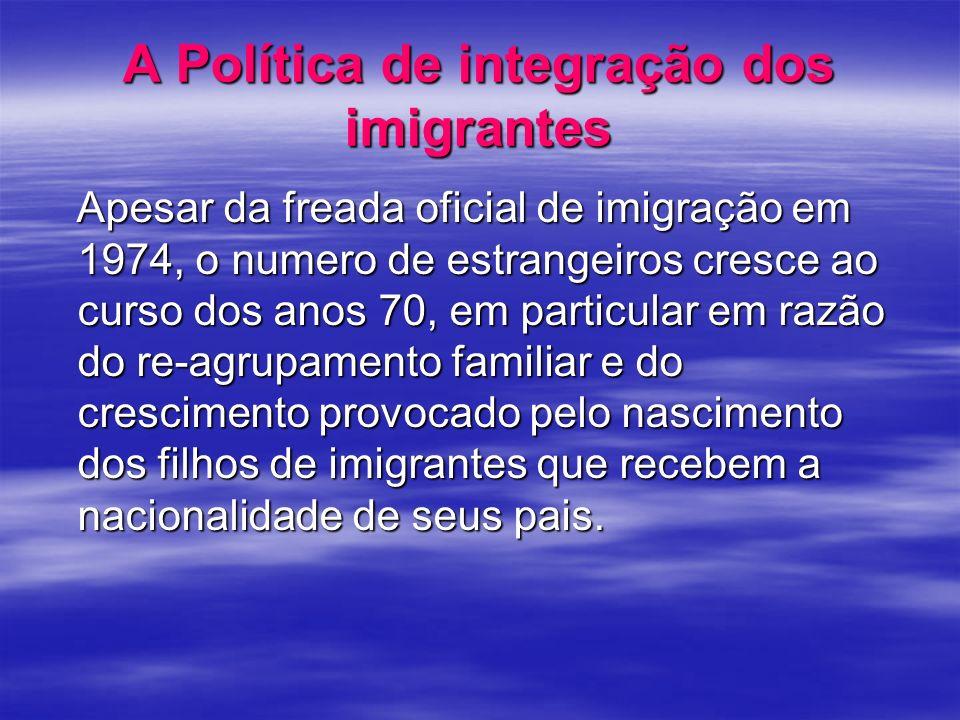 A Política de integração dos imigrantes