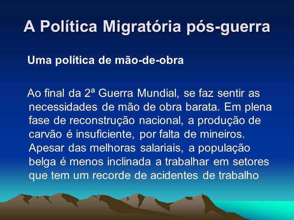 A Política Migratória pós-guerra