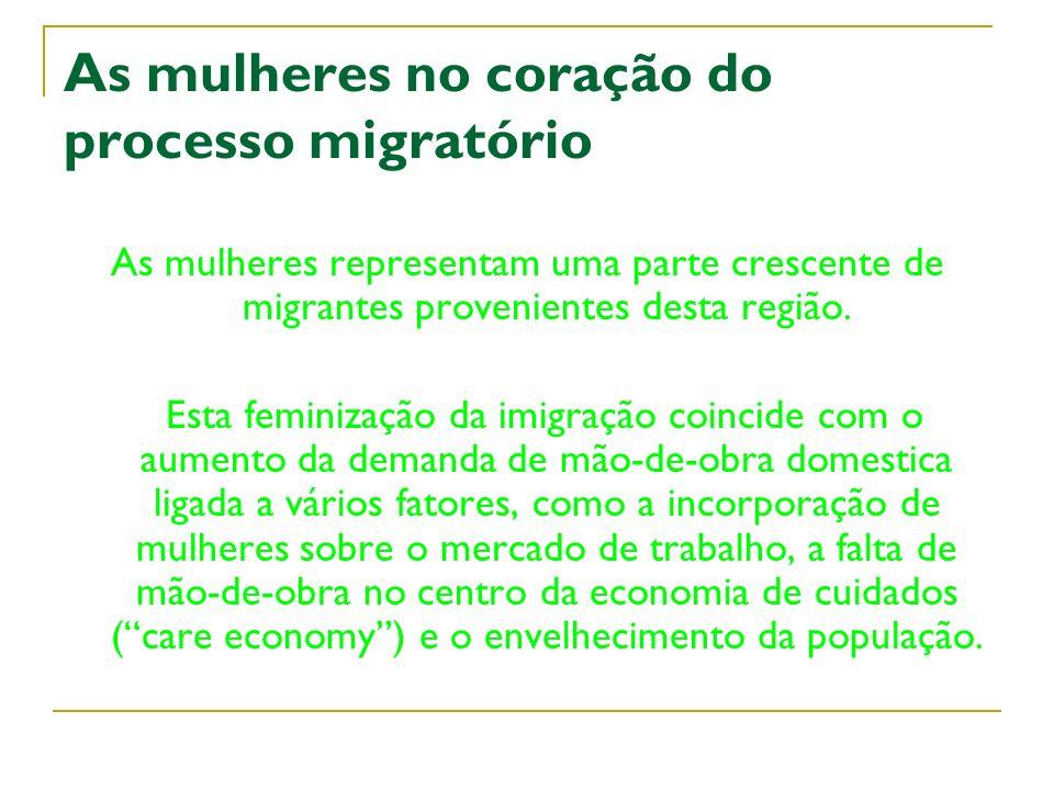 As mulheres no coração do processo migratório
