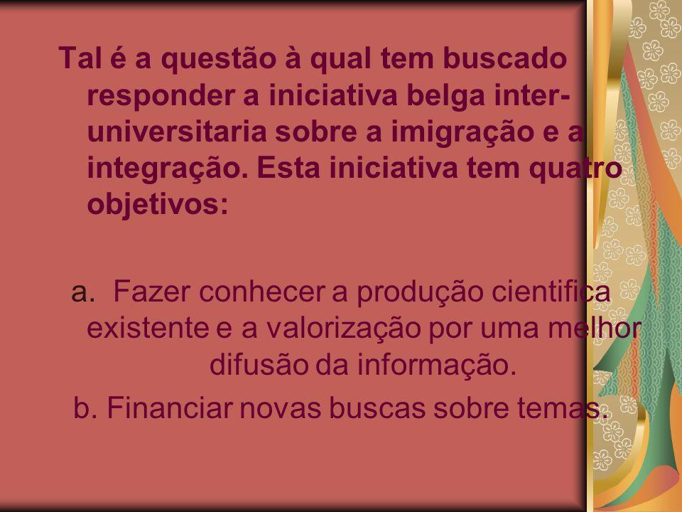 b. Financiar novas buscas sobre temas.