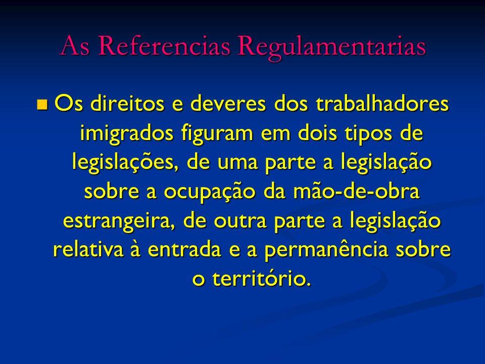 As Referencias Regulamentarias