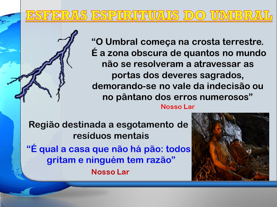ESFERAS ESPIRITUAIS DO UMBRAL