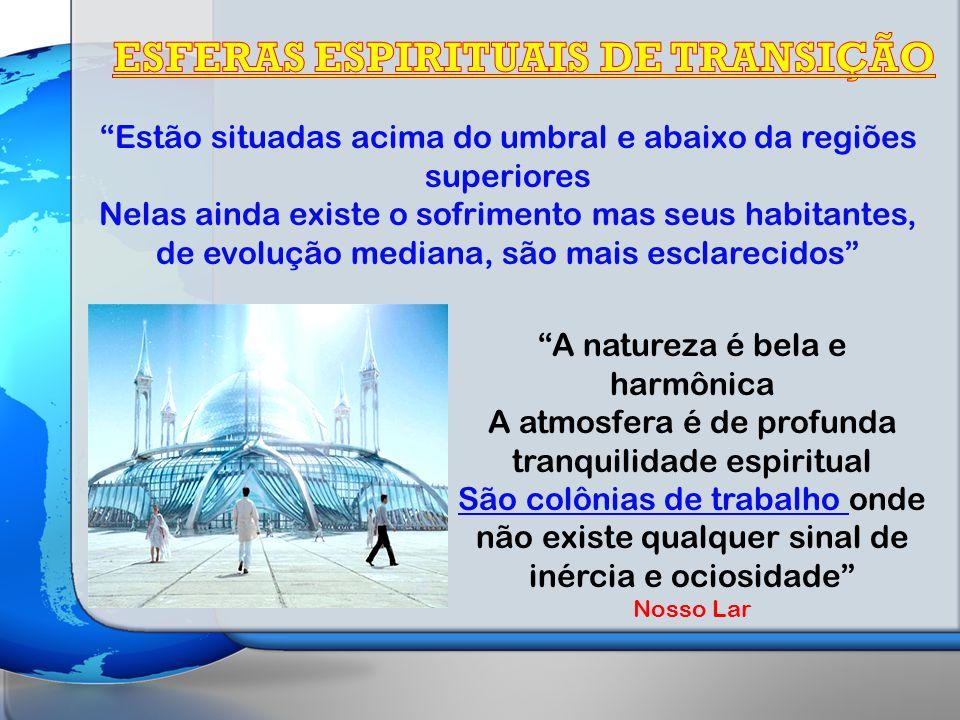 ESFERAS ESPIRITUAIS DE TRANSIÇÃO