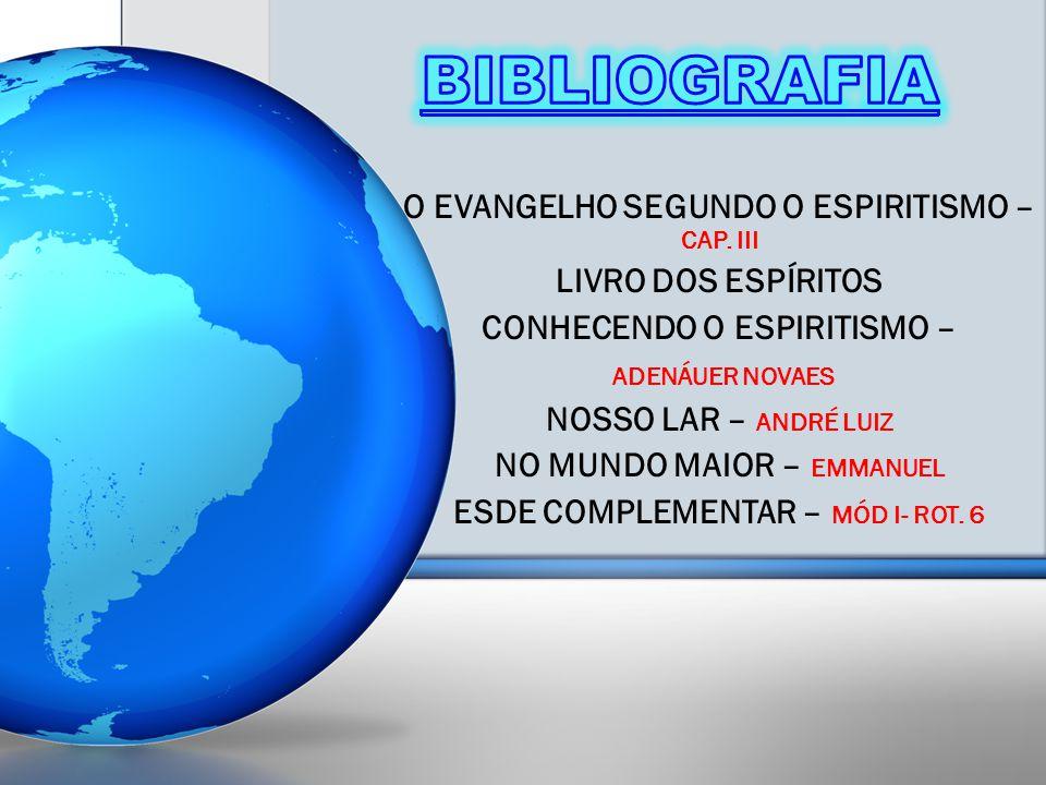 BIBLIOGRAFIA O EVANGELHO SEGUNDO O ESPIRITISMO – CAP. III