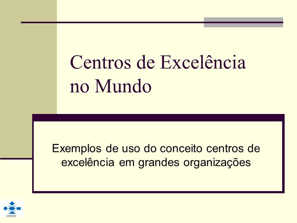 Centros de Excelência no Mundo