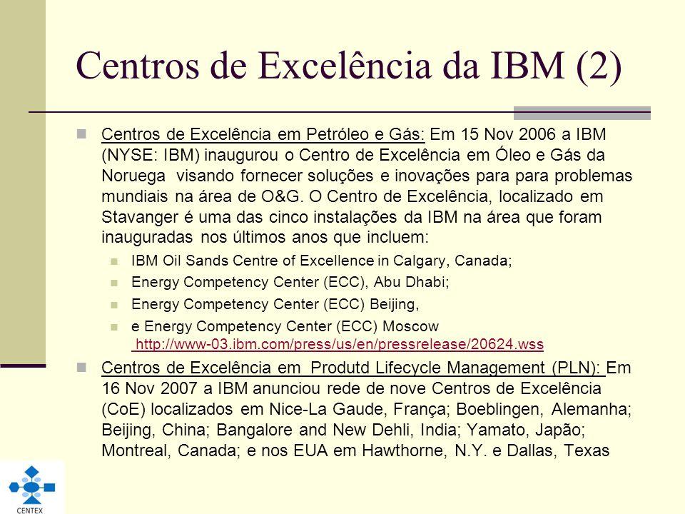 Centros de Excelência da IBM (2)