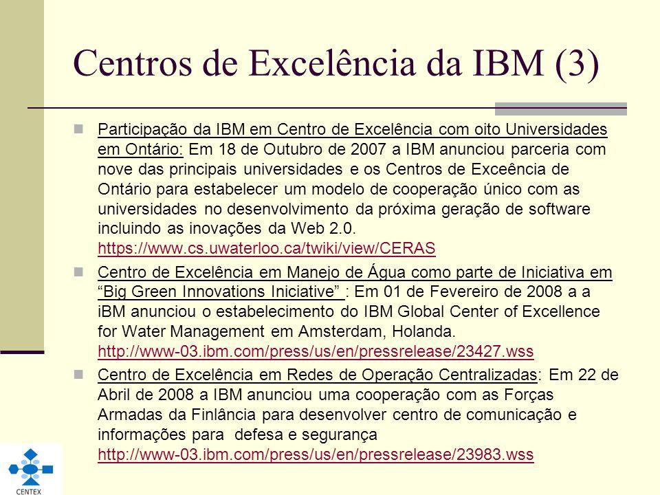 Centros de Excelência da IBM (3)