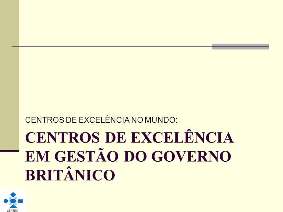 CENTROS DE EXCELÊNCIA EM GESTÃO DO GOVERNO BRITÂNICO