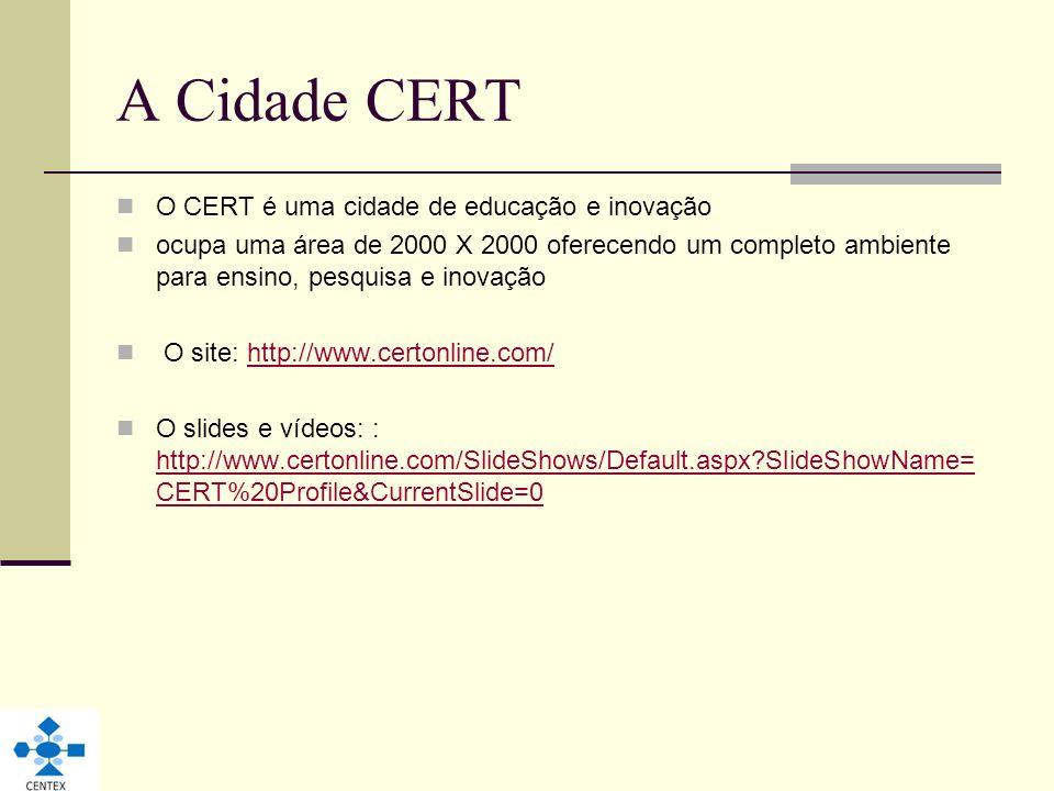 A Cidade CERT O CERT é uma cidade de educação e inovação