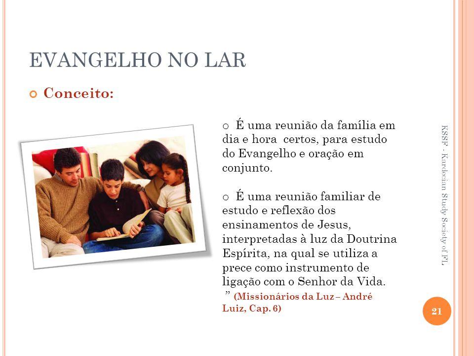 EVANGELHO NO LAR Conceito: