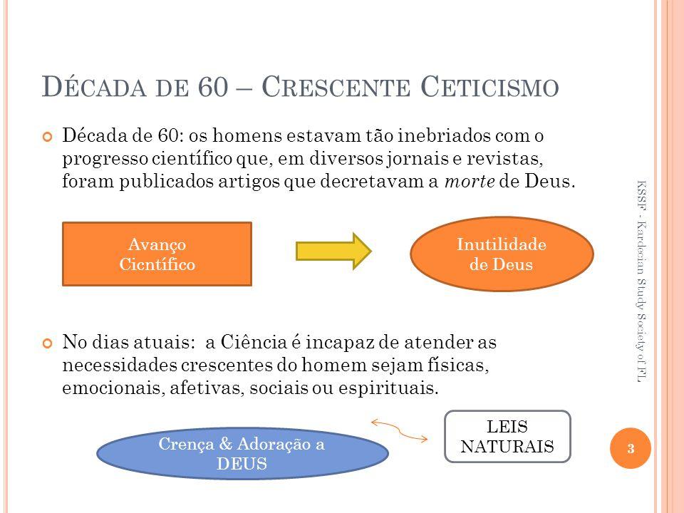 Década de 60 – Crescente Ceticismo