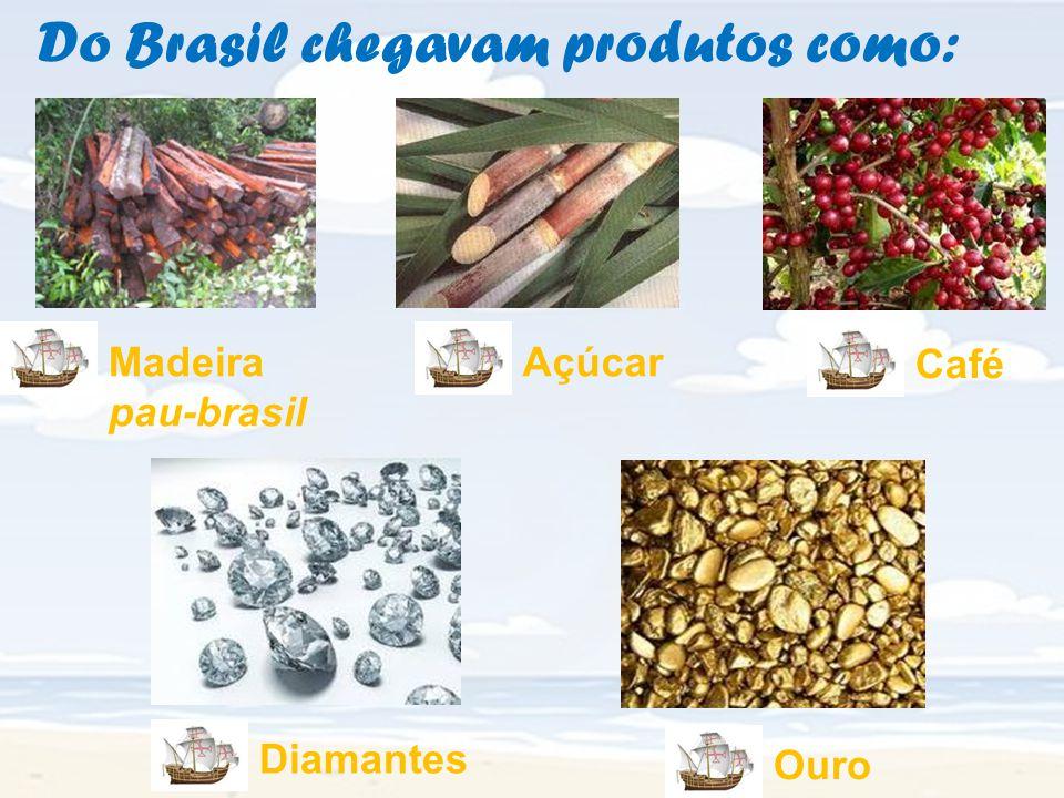 Do Brasil chegavam produtos como:
