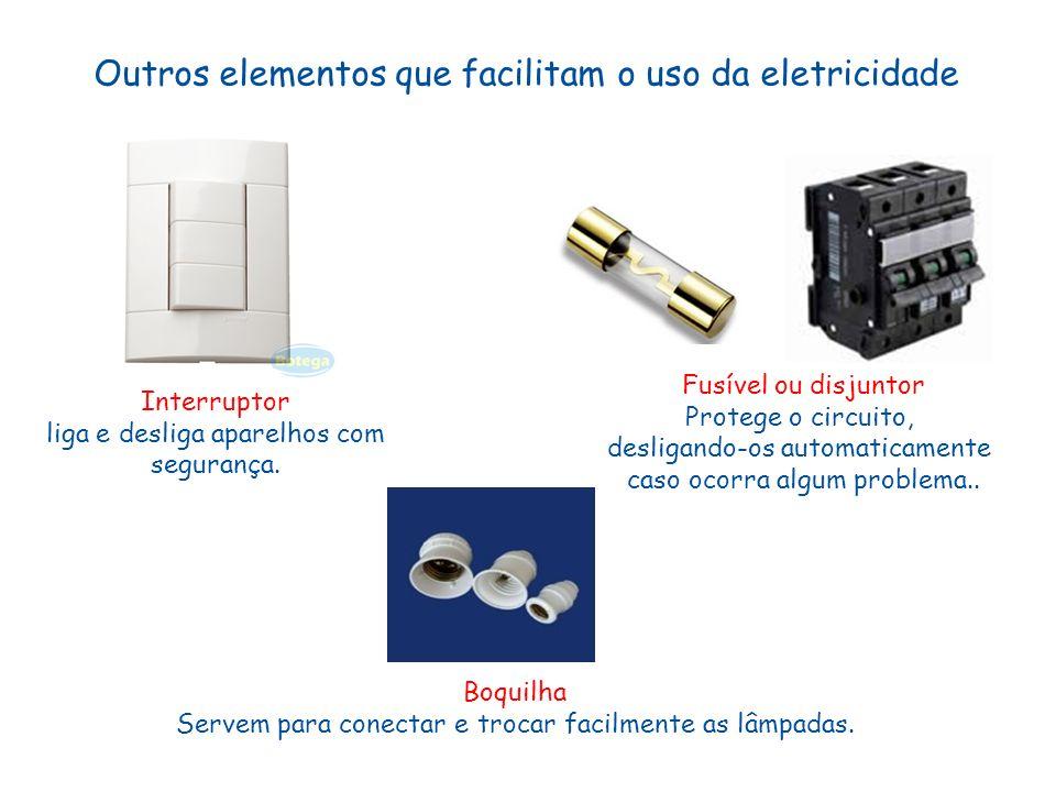 Outros elementos que facilitam o uso da eletricidade