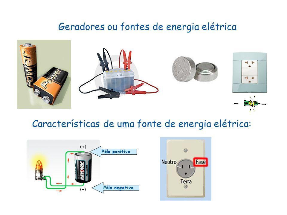 Geradores ou fontes de energia elétrica