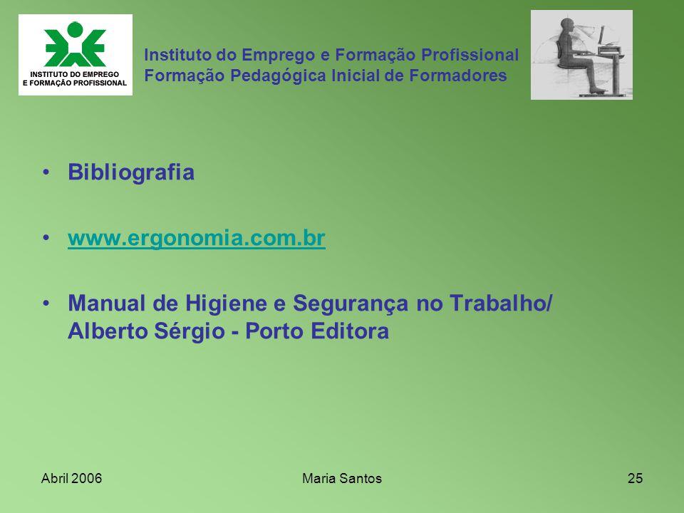 Bibliografia www.ergonomia.com.br