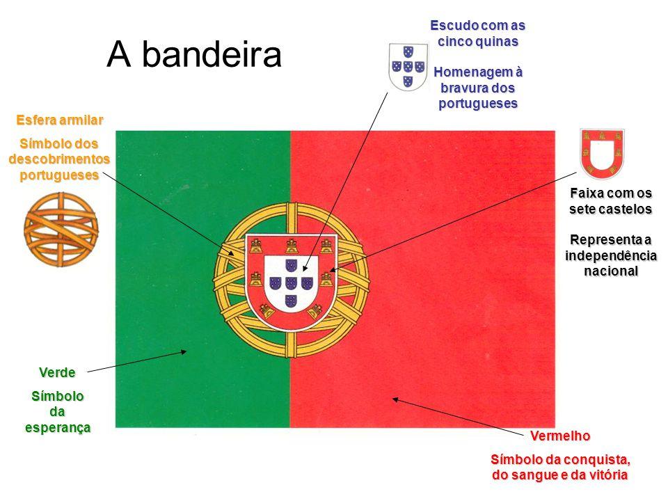 A bandeira Escudo com as cinco quinas