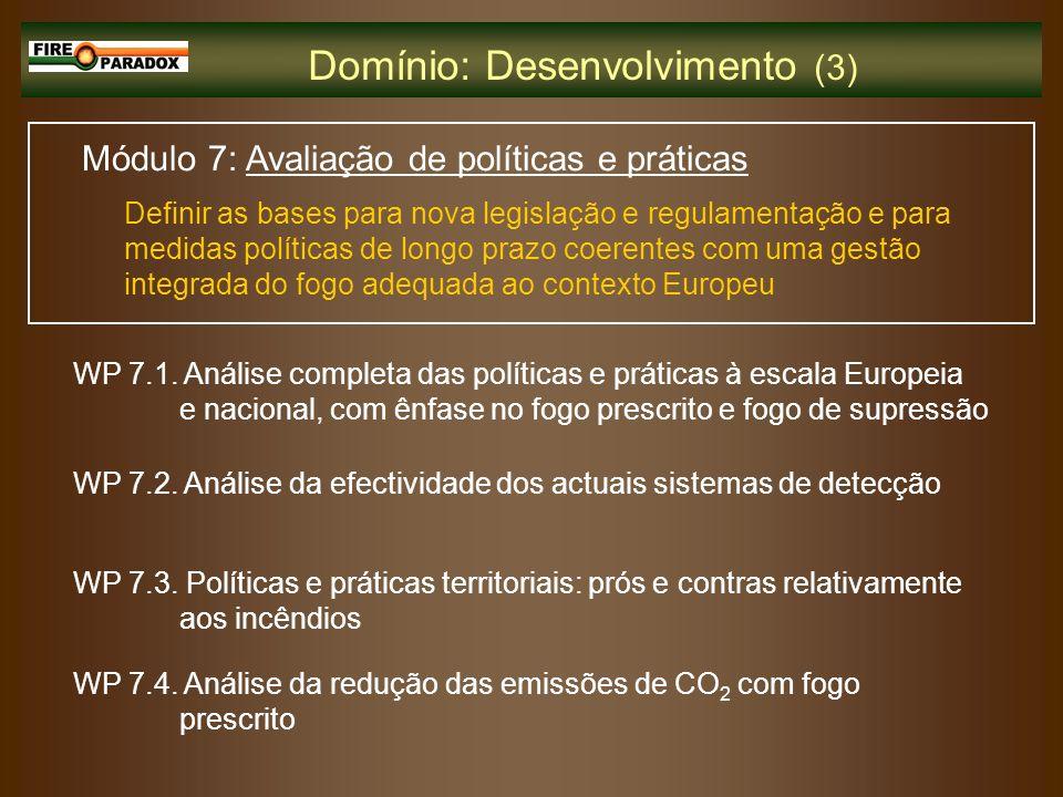 Domínio: Desenvolvimento (3)