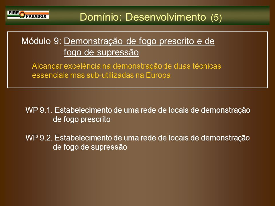 Domínio: Desenvolvimento (5)