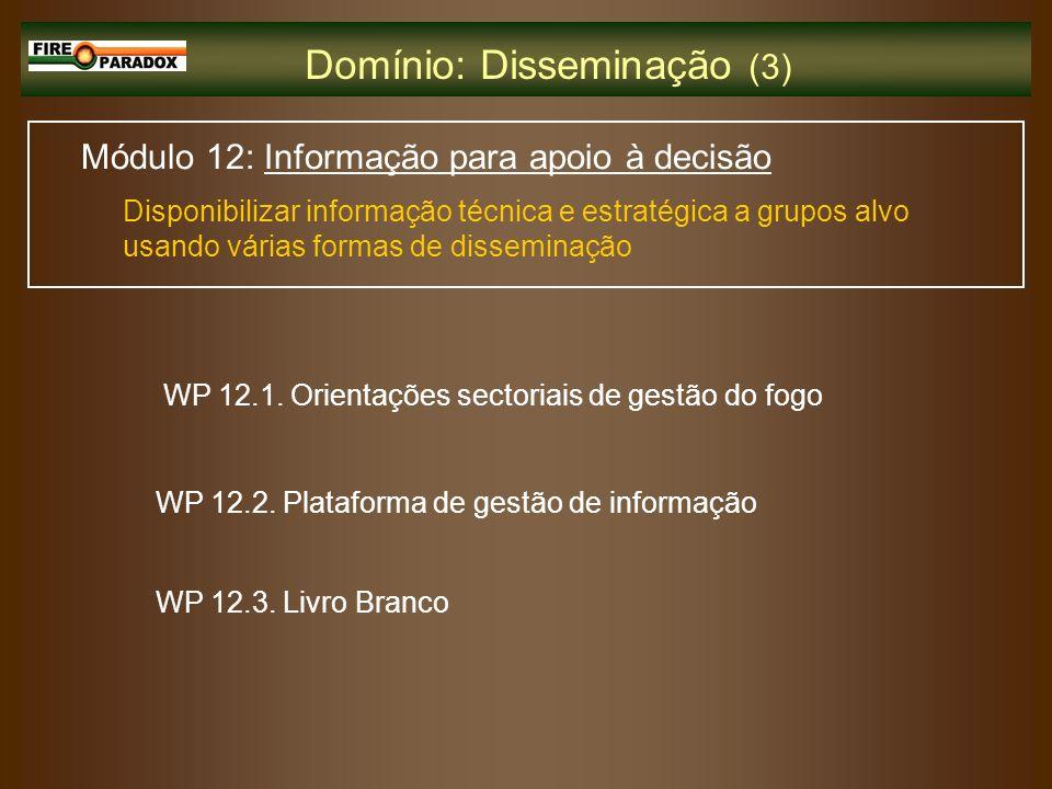 Domínio: Disseminação (3)