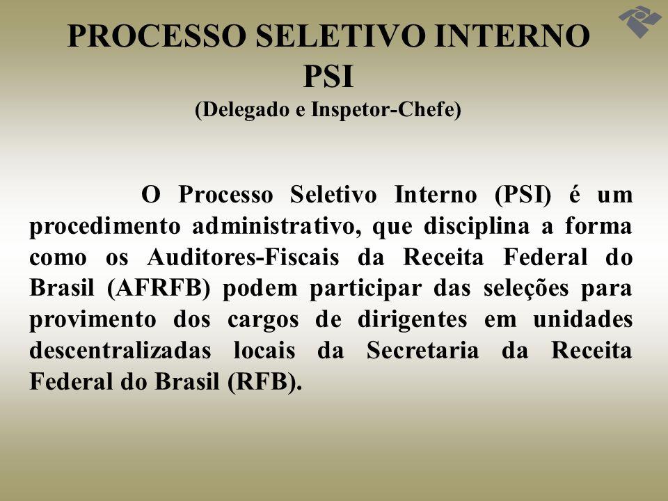 PROCESSO SELETIVO INTERNO PSI (Delegado e Inspetor-Chefe)
