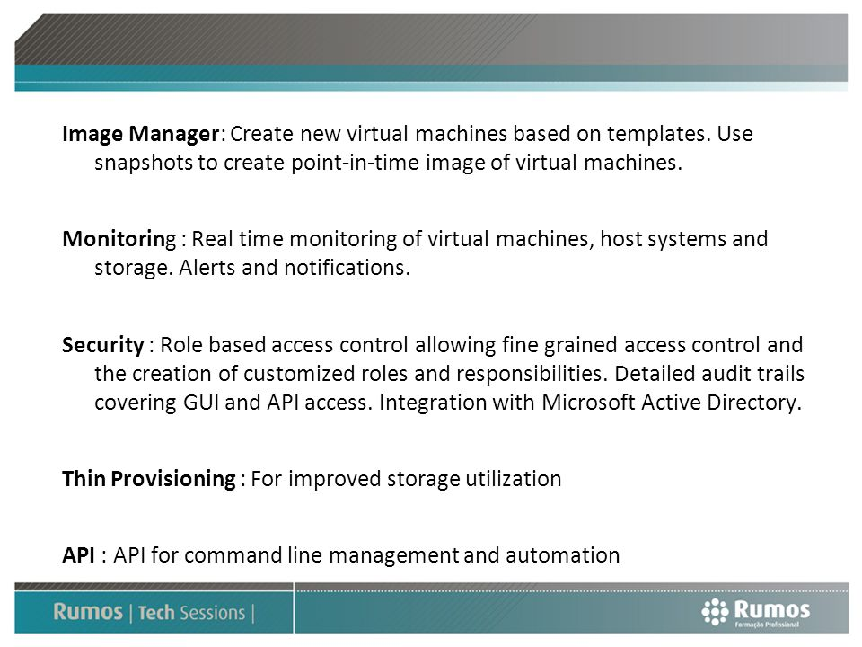 Image Manager: Create new virtual machines based on templates