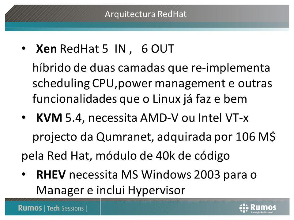 KVM 5.4, necessita AMD-V ou Intel VT-x