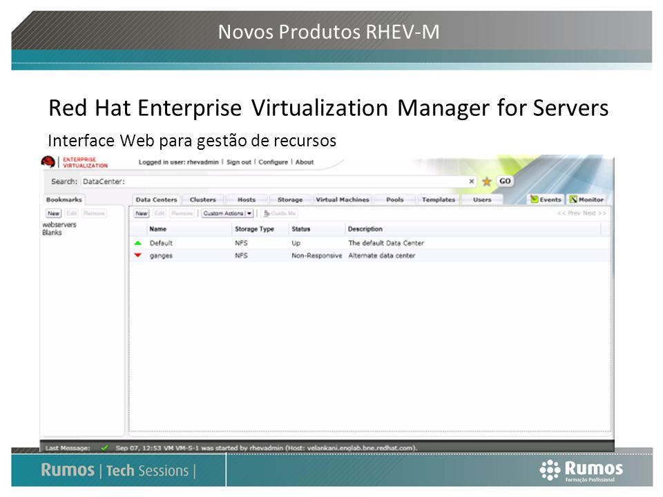 Red Hat Enterprise Virtualization Manager for Servers