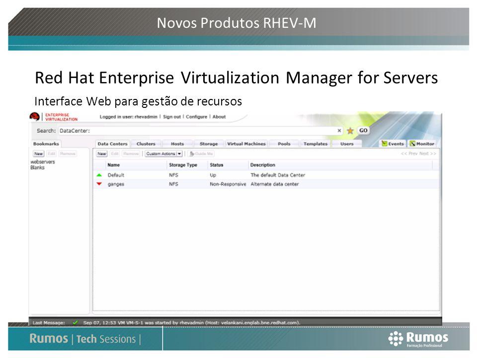 Red Hat Enterprise Virtualization Manager for Servers