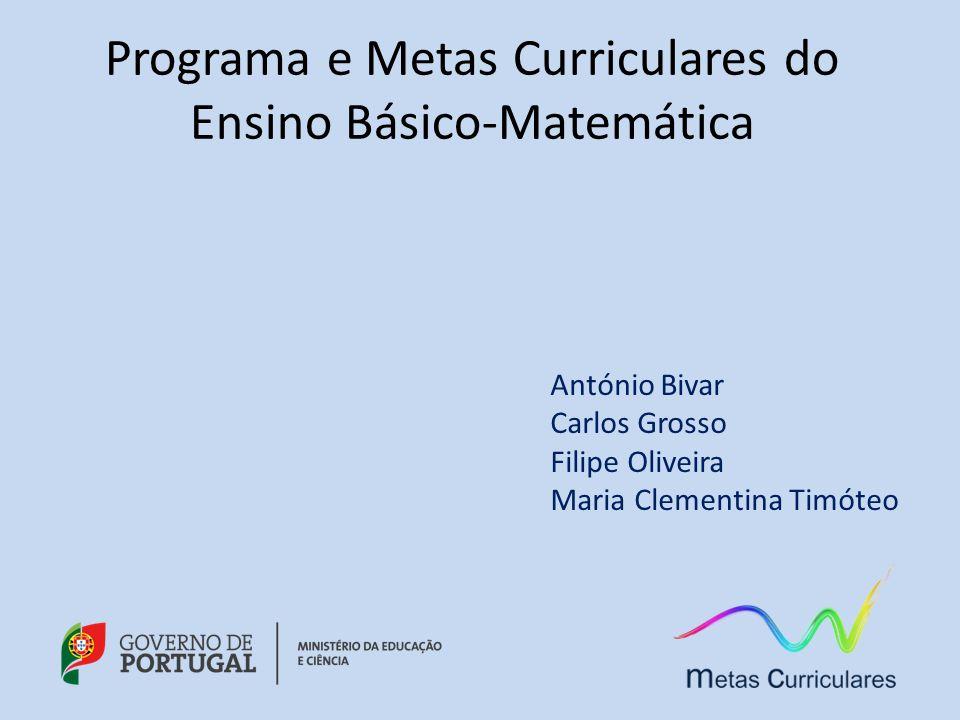 Programa e Metas Curriculares do Ensino Básico-Matemática