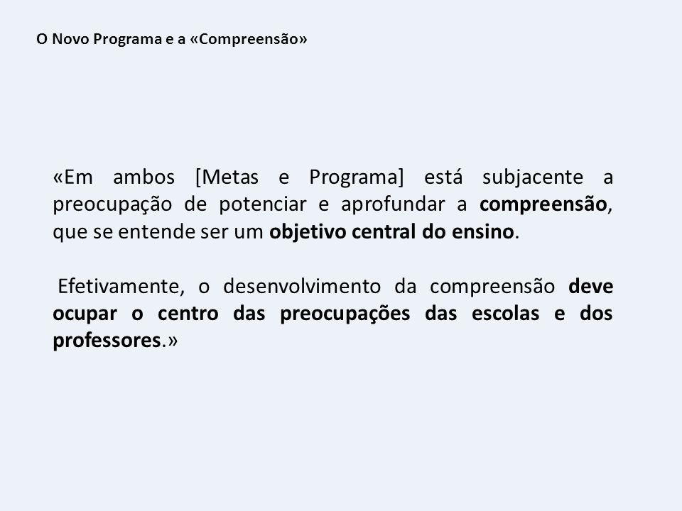 O Novo Programa e a «Compreensão»