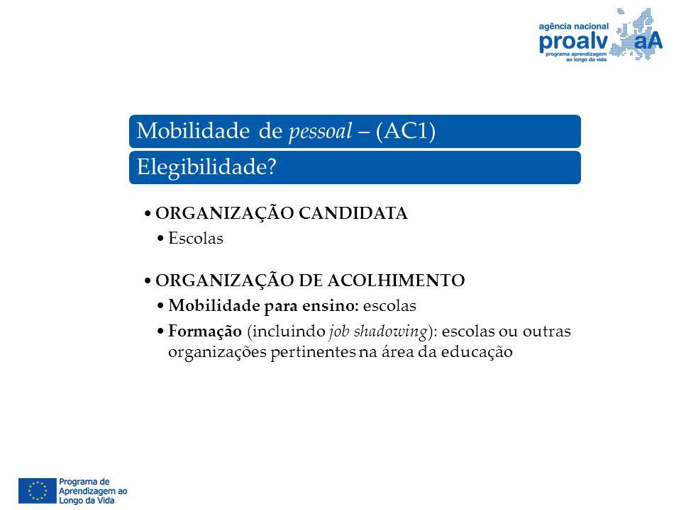 Mobilidade de pessoal – (AC1)