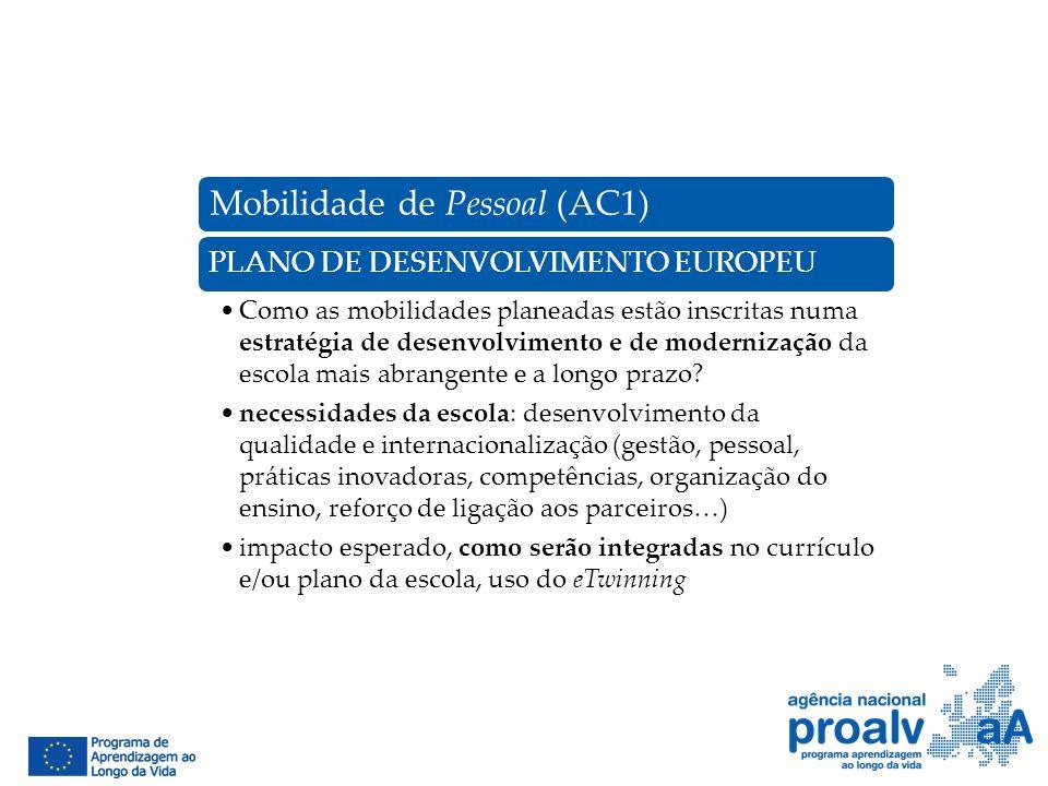 Mobilidade de Pessoal (AC1)