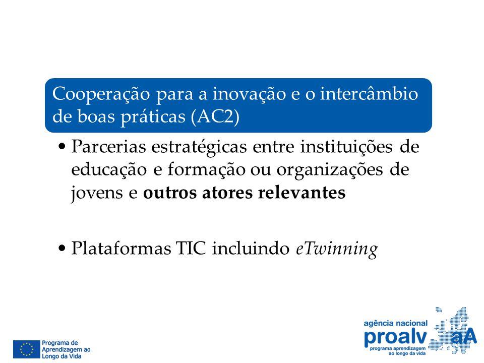 Cooperação para a inovação e o intercâmbio de boas práticas (AC2)
