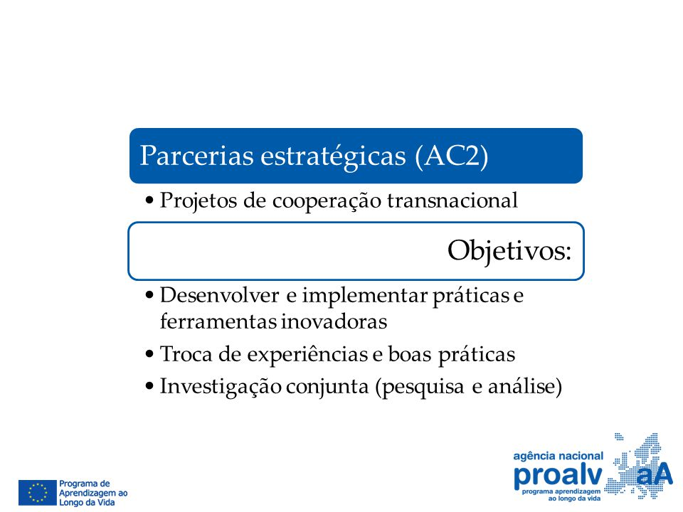 Parcerias estratégicas (AC2)