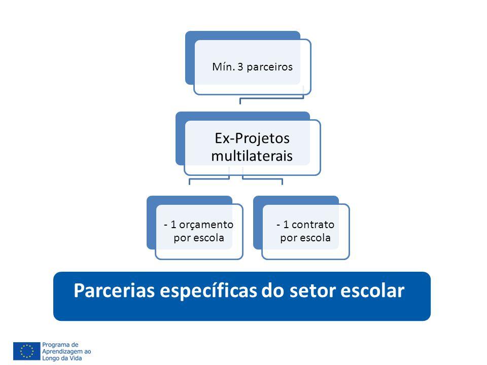 Parcerias específicas do setor escolar