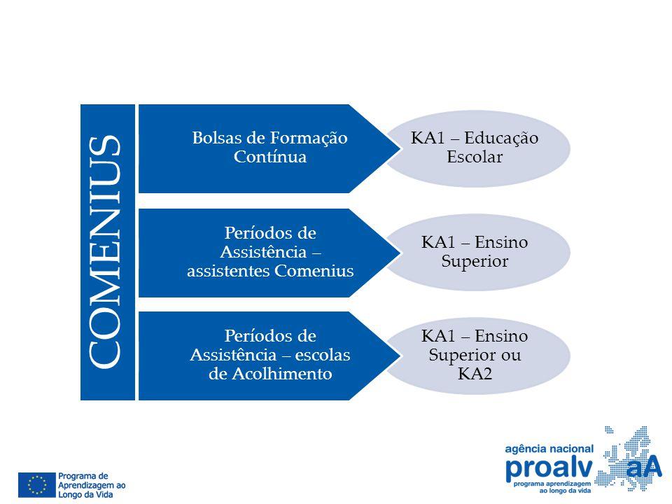 COMENIUS Bolsas de Formação Contínua KA1 – Educação Escolar