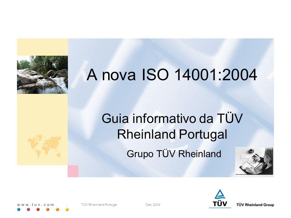 Guia informativo da TÜV Rheinland Portugal Grupo TÜV Rheinland