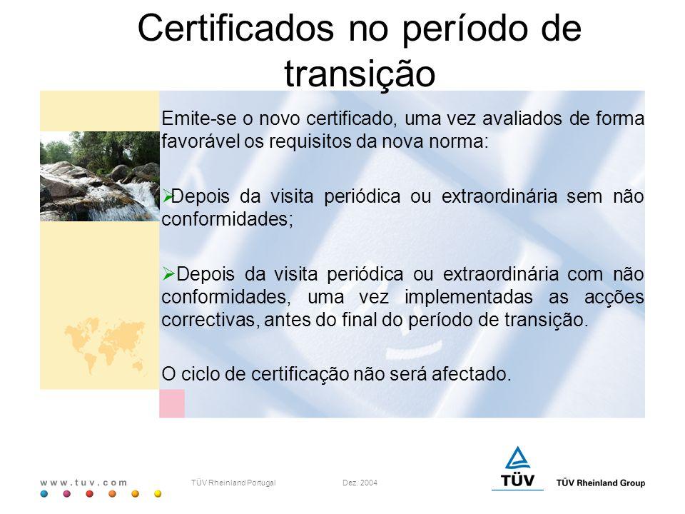 Certificados no período de transição