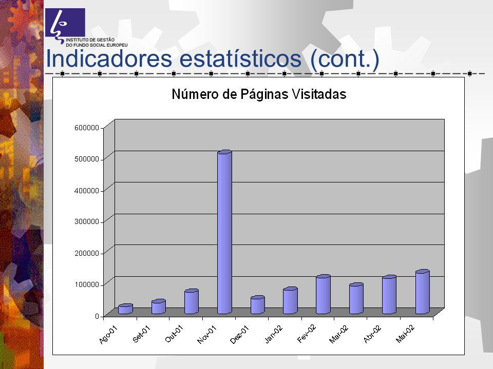 Indicadores estatísticos (cont.)
