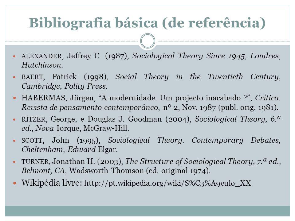 Bibliografia básica (de referência)