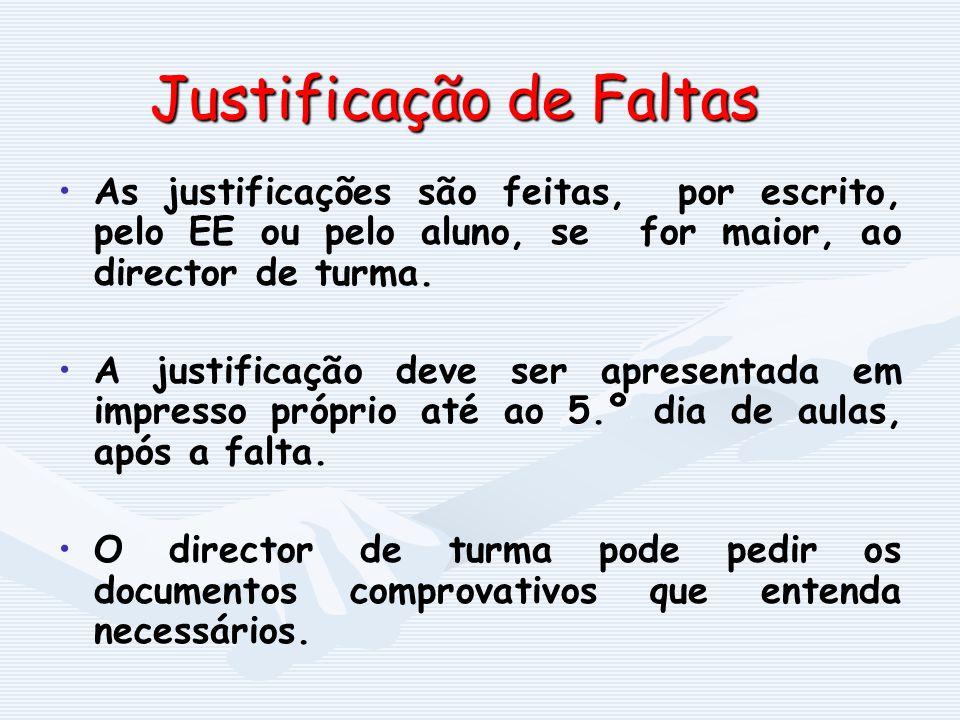 Justificação de Faltas