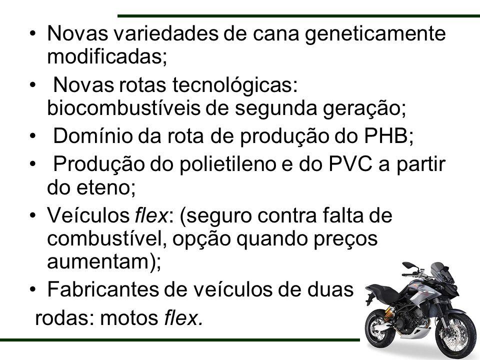 Novas variedades de cana geneticamente modificadas;