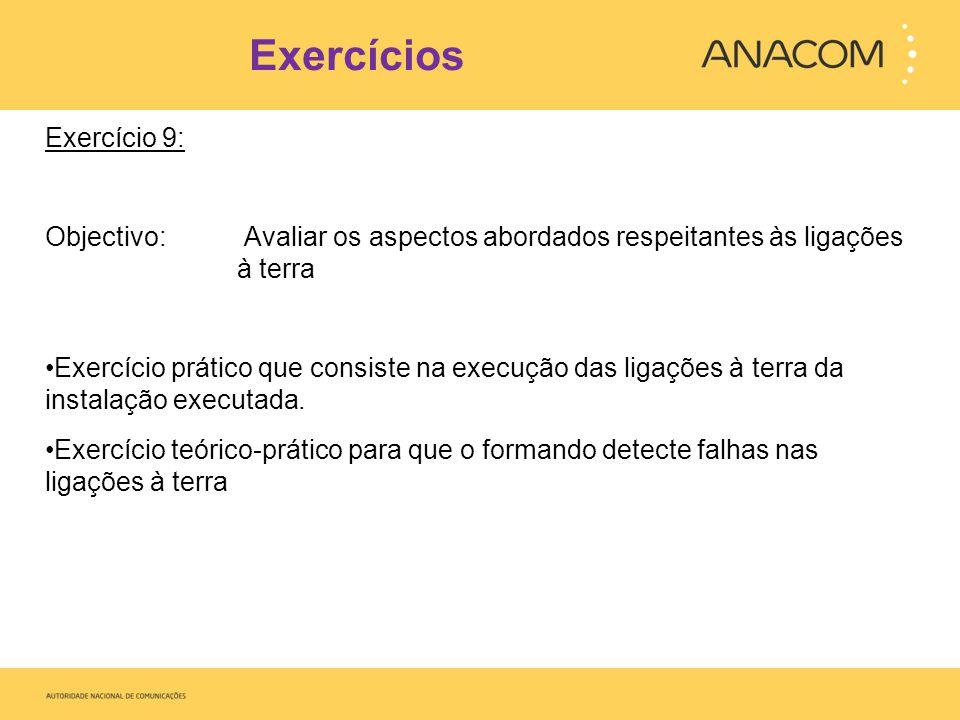 Exercícios Exercício 9: