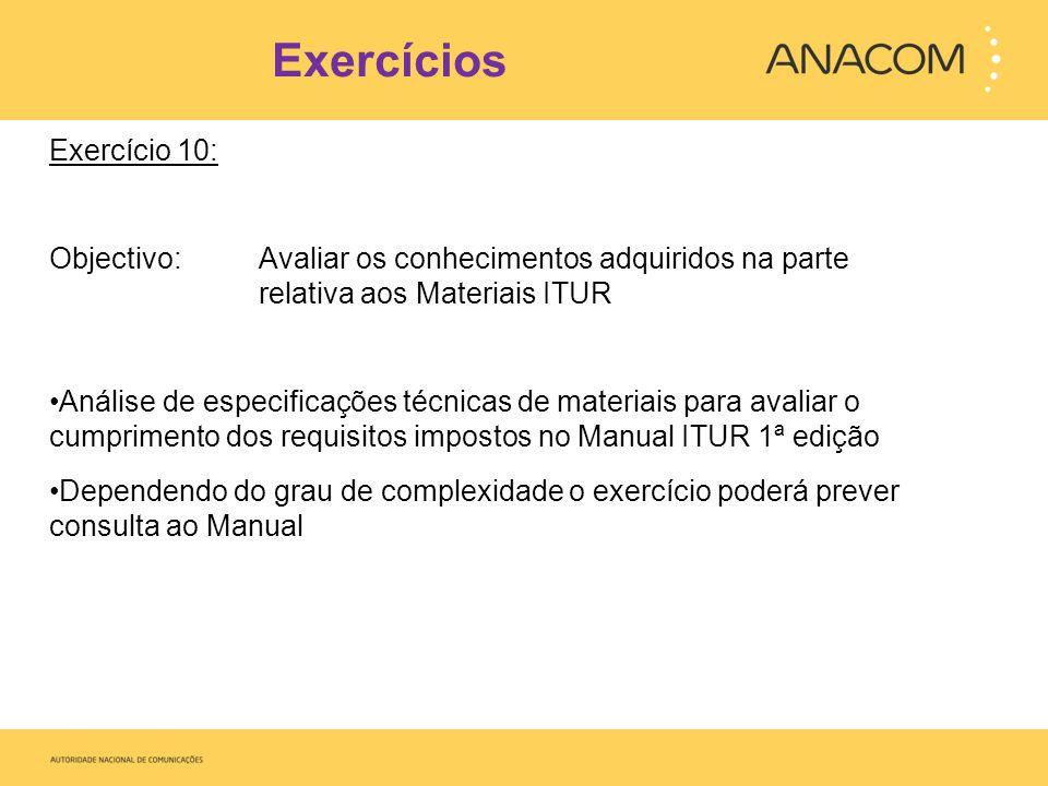 Exercícios Exercício 10: