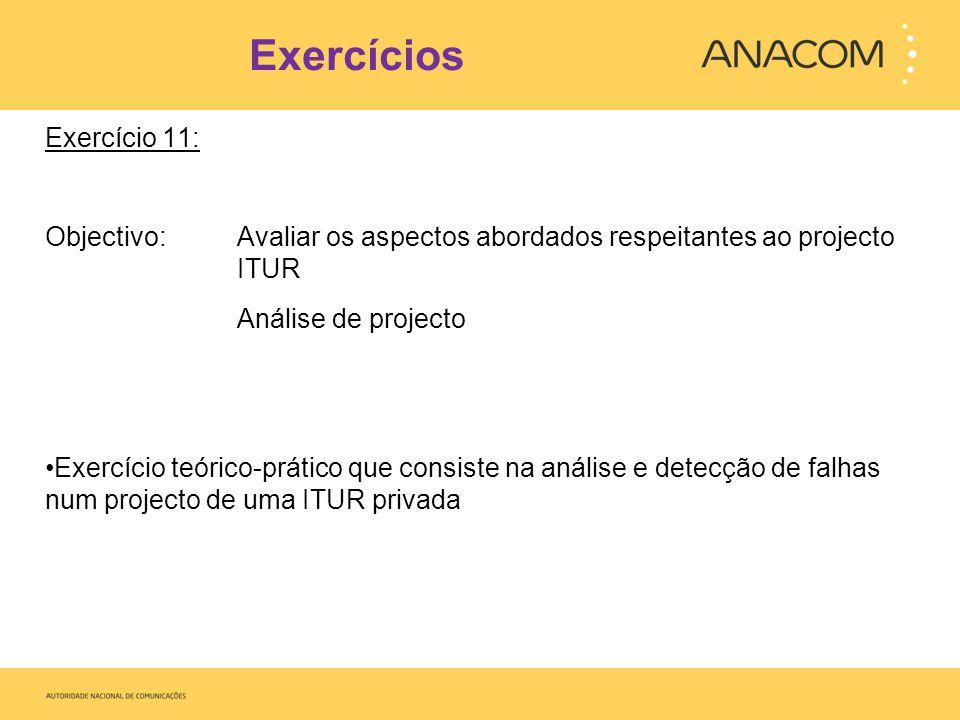 Exercícios Exercício 11: