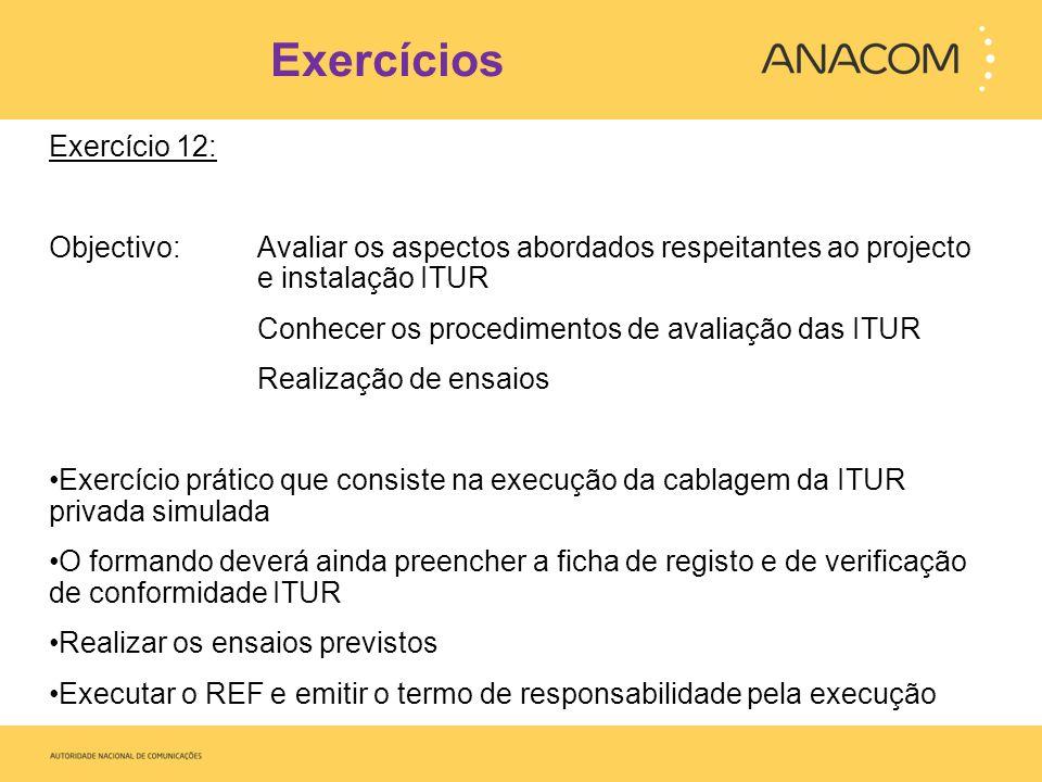 Exercícios Exercício 12: