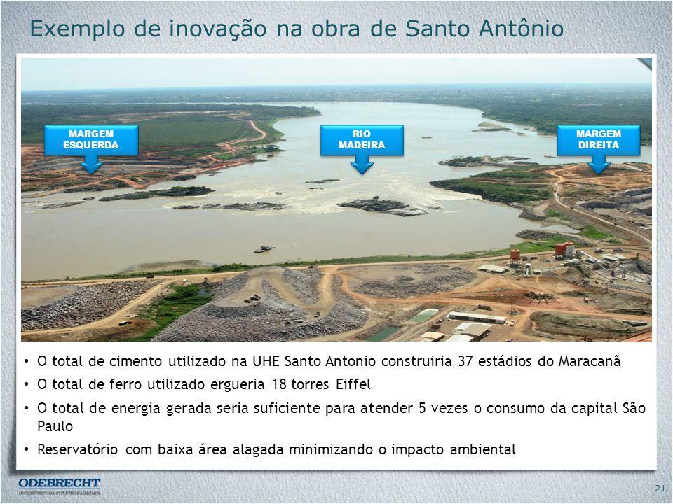 Exemplo de inovação na obra de Santo Antônio